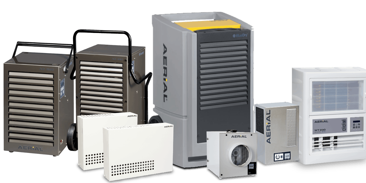 Industrial dehumidifier products range by Aerial